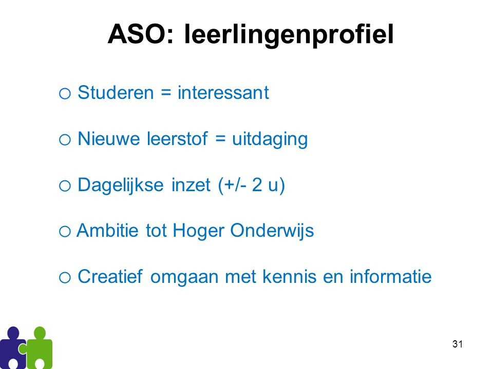 ASO: leerlingenprofiel