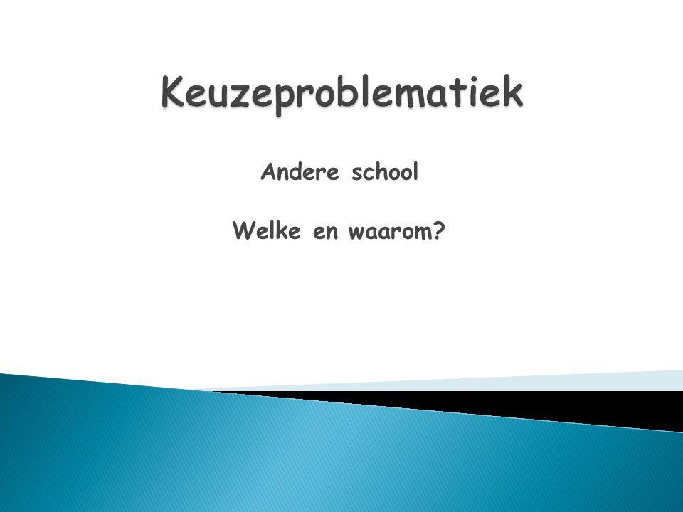 Andere school Welke en waarom