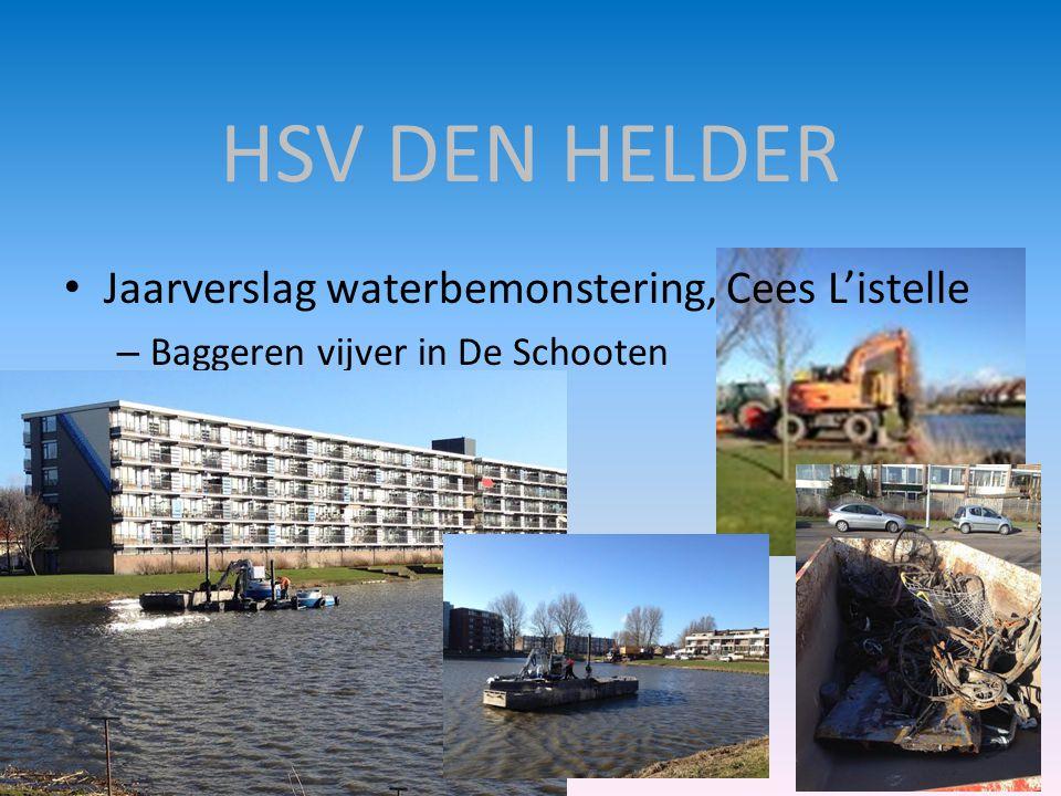 HSV DEN HELDER Jaarverslag waterbemonstering, Cees L'istelle
