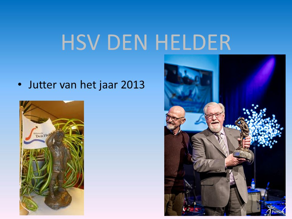 HSV DEN HELDER Jutter van het jaar 2013