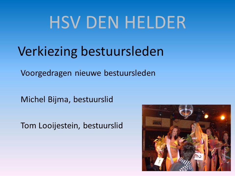 HSV DEN HELDER Verkiezing bestuursleden