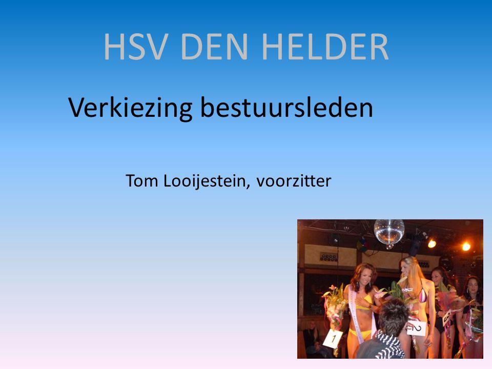 HSV DEN HELDER Verkiezing bestuursleden Tom Looijestein, voorzitter