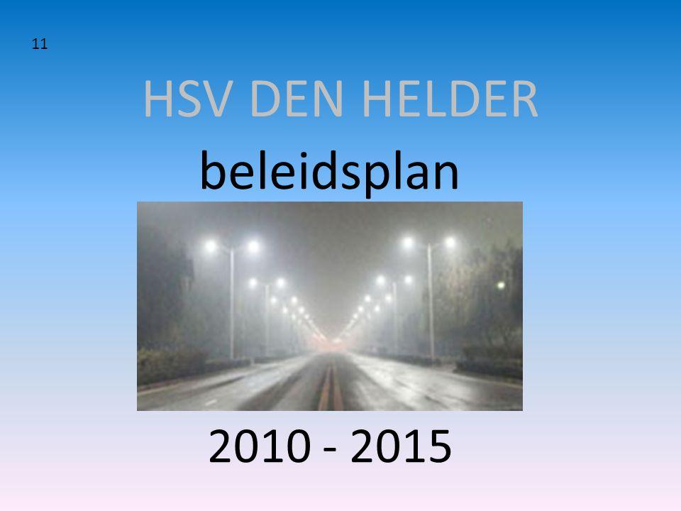 HSV DEN HELDER 11 beleidsplan 2010 - 2015