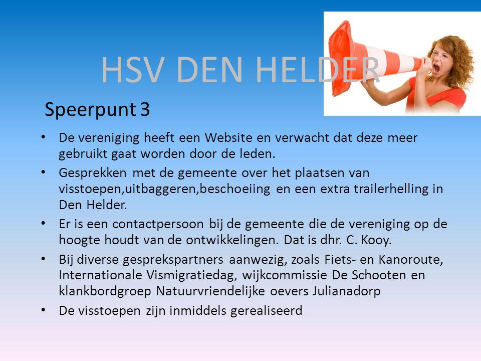HSV DEN HELDER Speerpunt 3