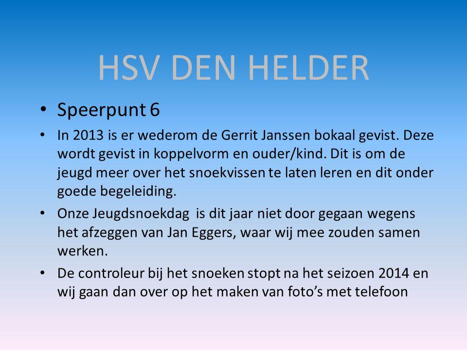 HSV DEN HELDER Speerpunt 6