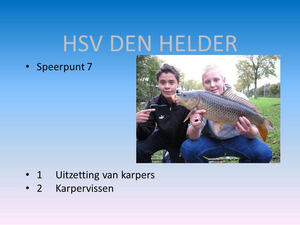 HSV DEN HELDER Speerpunt 7 1 Uitzetting van karpers 2 Karpervissen