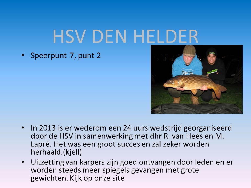 HSV DEN HELDER Speerpunt 7, punt 2