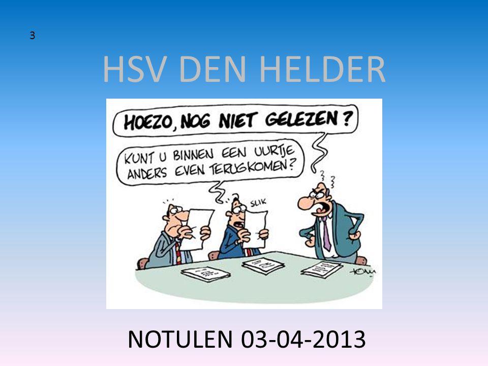 HSV DEN HELDER 3 NOTULEN 03-04-2013