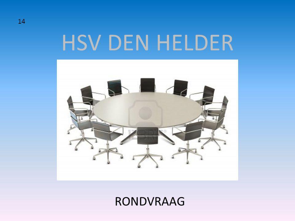 HSV DEN HELDER 14 RONDVRAAG