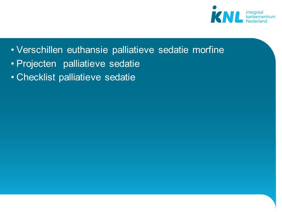 Verschillen euthansie palliatieve sedatie morfine
