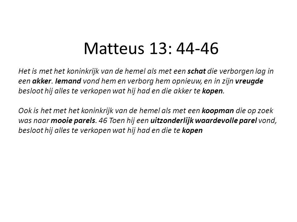Matteus 13: 44-46