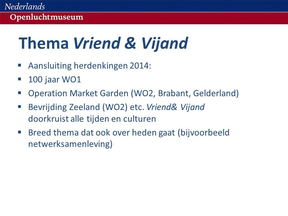 Thema Vriend & Vijand Aansluiting herdenkingen 2014: 100 jaar WO1