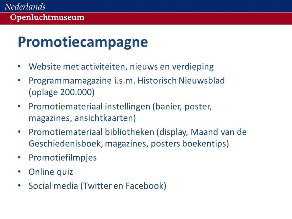 Promotiecampagne Website met activiteiten, nieuws en verdieping