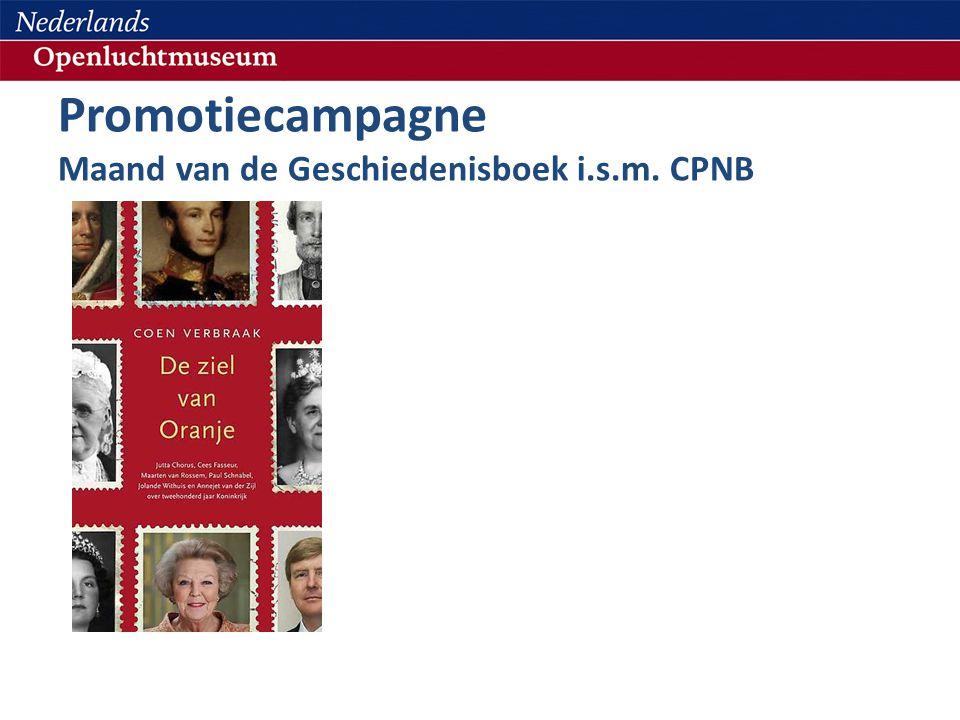 Promotiecampagne Maand van de Geschiedenisboek i.s.m. CPNB
