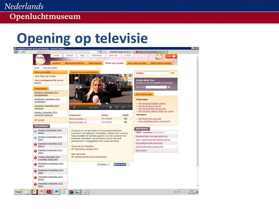 Opening op televisie