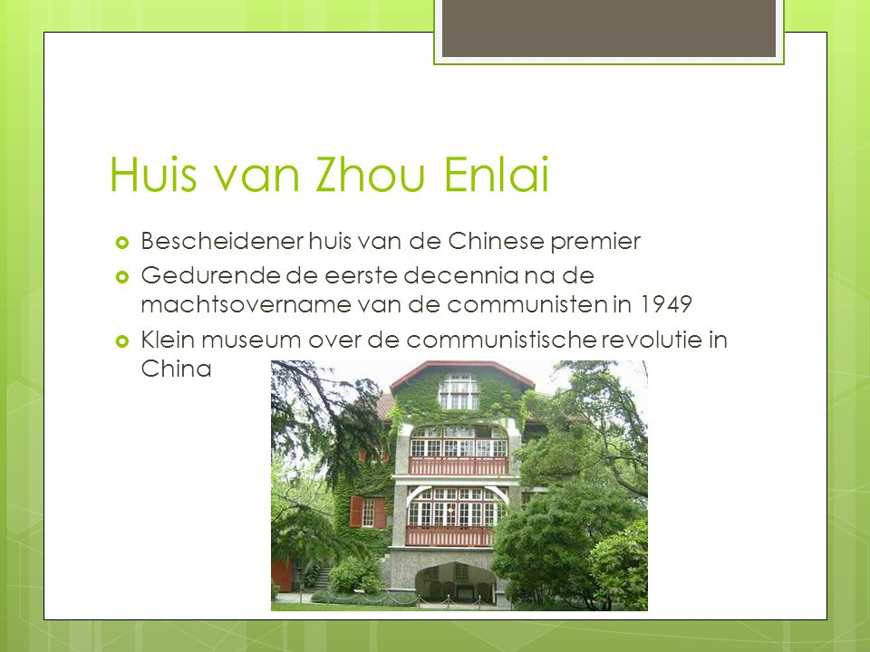 Huis van Zhou Enlai Bescheidener huis van de Chinese premier