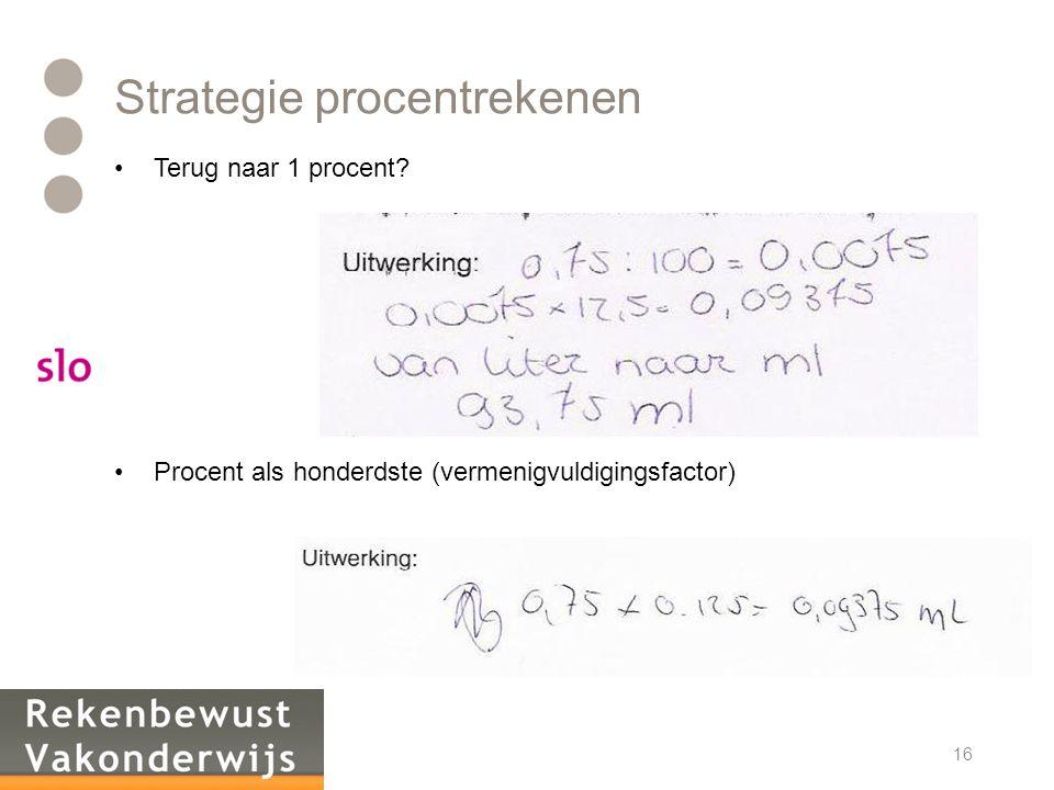 Strategie procentrekenen