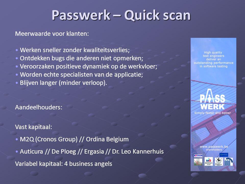 Passwerk – Quick scan Meerwaarde voor klanten: