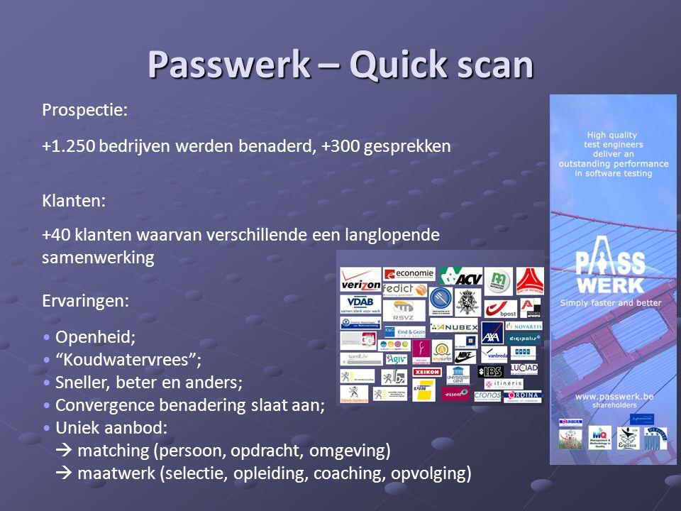 Passwerk – Quick scan Prospectie: