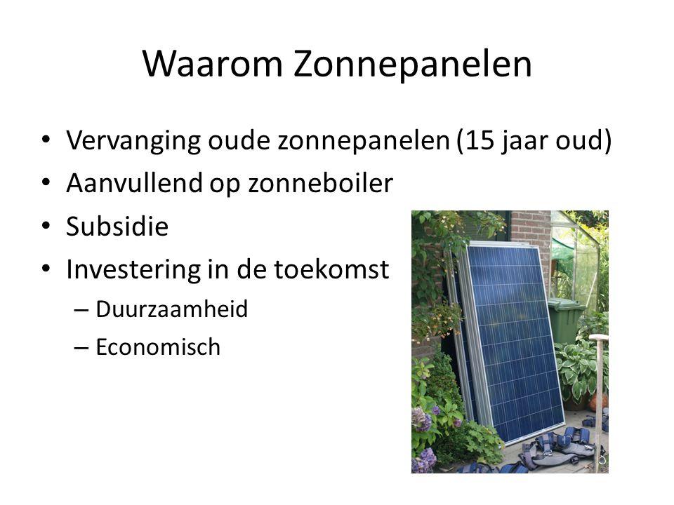 Waarom Zonnepanelen Vervanging oude zonnepanelen (15 jaar oud)