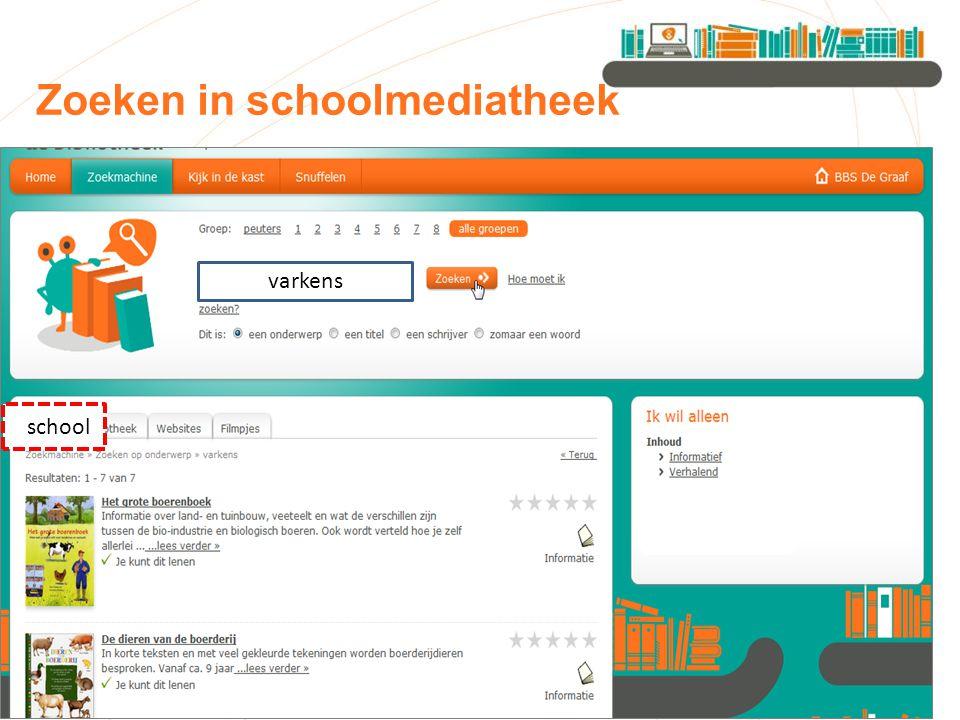Zoeken in schoolmediatheek