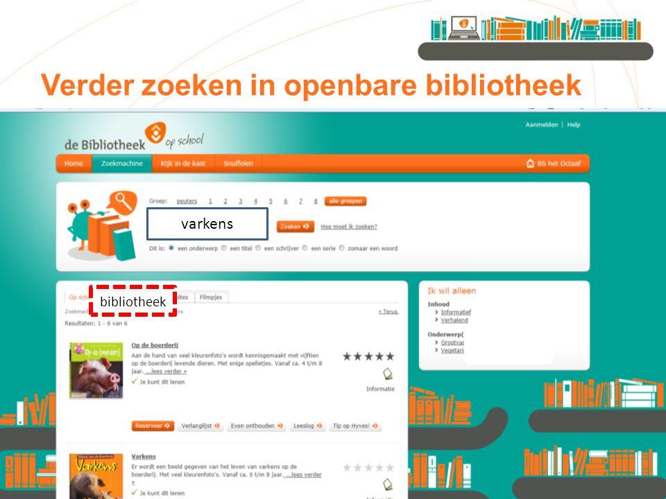 Verder zoeken in openbare bibliotheek