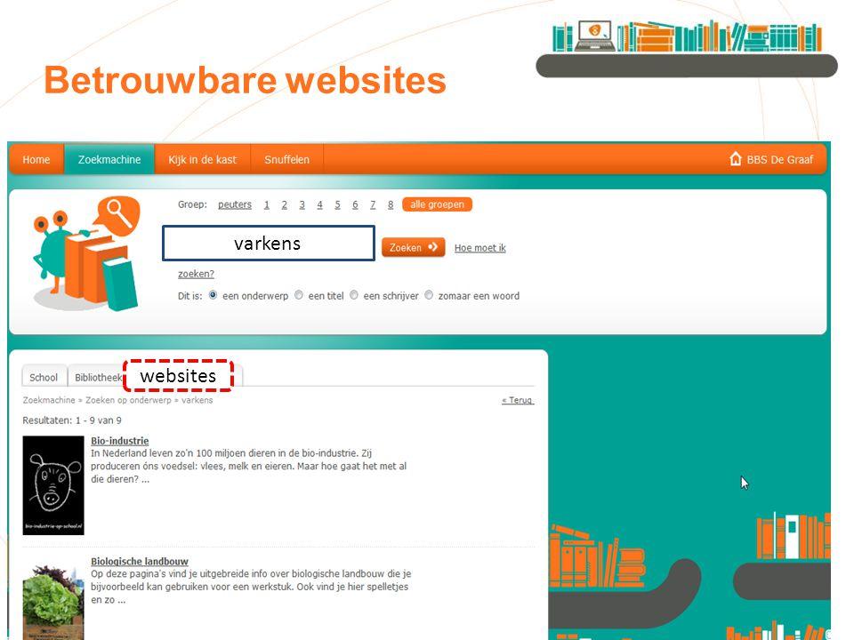 Betrouwbare websites varkens websites