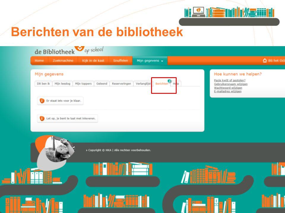 Berichten van de bibliotheek