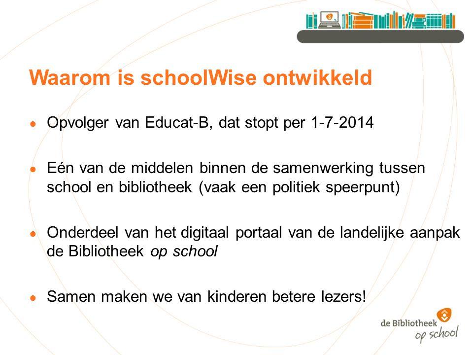 Waarom is schoolWise ontwikkeld