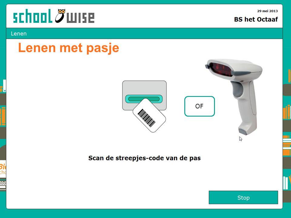 Lenen met pasje OF Pasje laten lezen door paslezer of handscanner 41 41