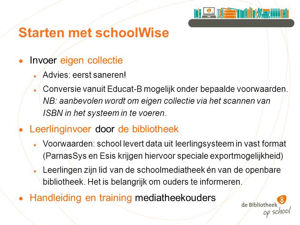 Starten met schoolWise