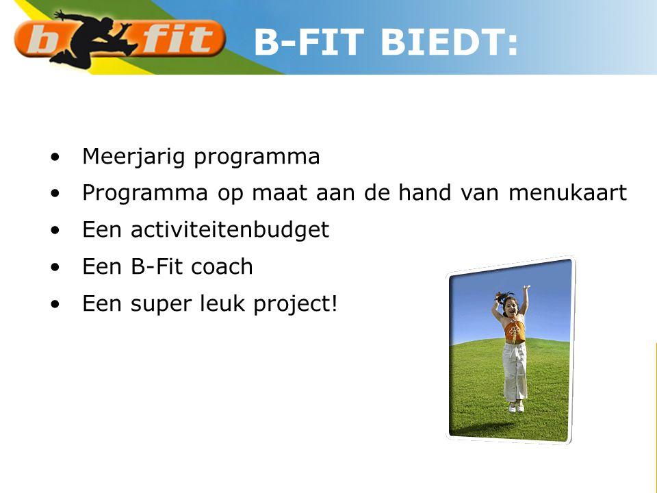 B-FIT BIEDT: Meerjarig programma