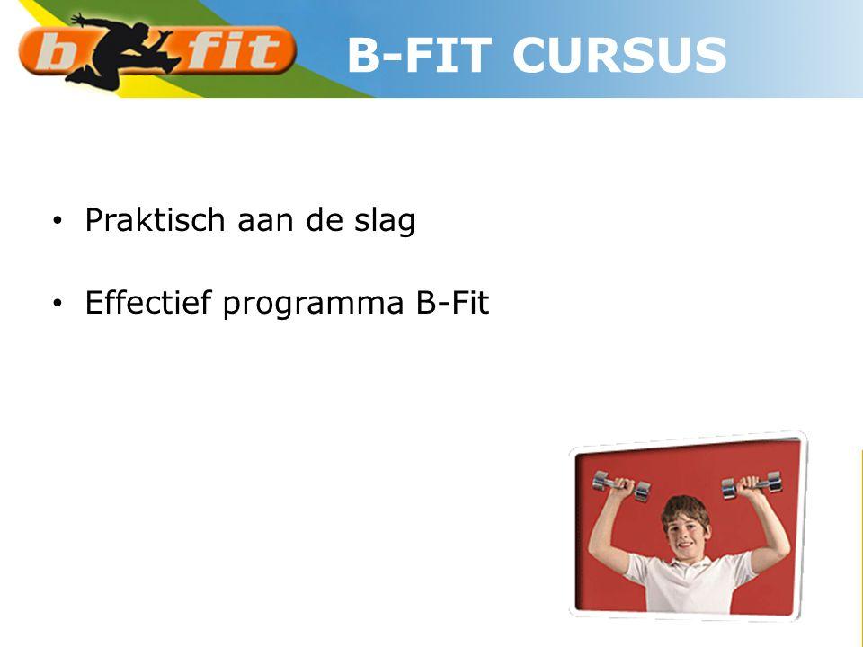 B-FIT CURSUS Praktisch aan de slag Effectief programma B-Fit
