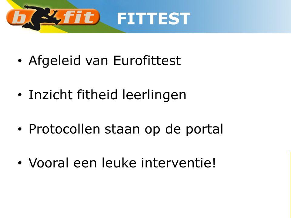 FITTEST Afgeleid van Eurofittest Inzicht fitheid leerlingen