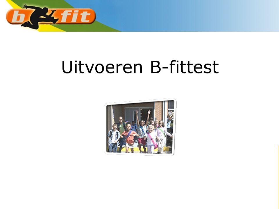 Uitvoeren B-fittest