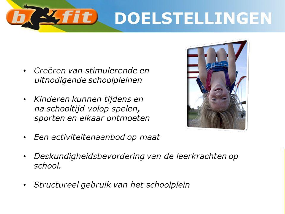 DOELSTELLINGEN Creëren van stimulerende en uitnodigende schoolpleinen