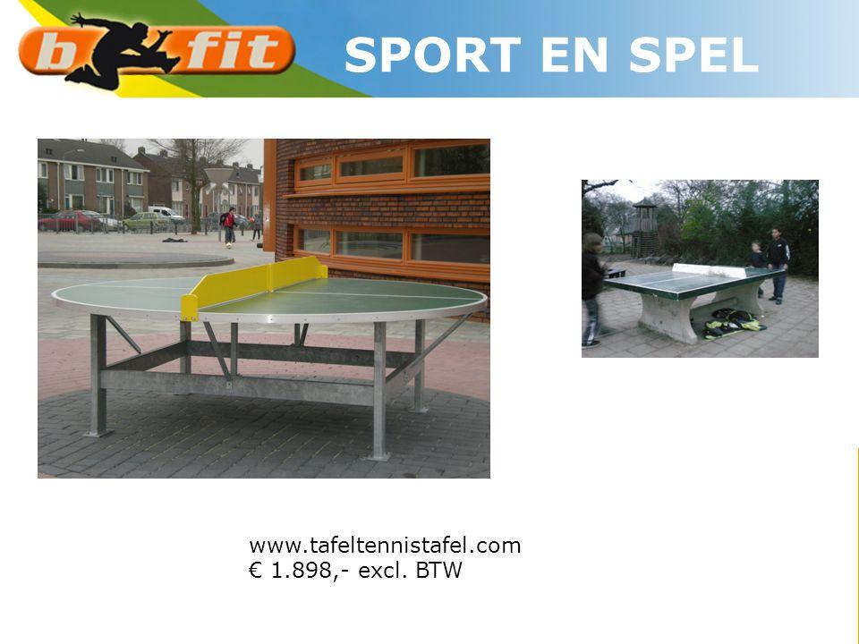 SPORT EN SPEL www.tafeltennistafel.com € 1.898,- excl. BTW