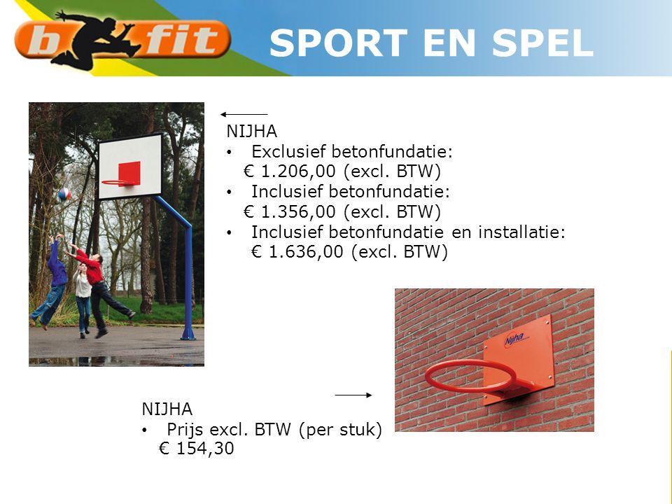 SPORT EN SPEL NIJHA Exclusief betonfundatie: € 1.206,00 (excl. BTW)