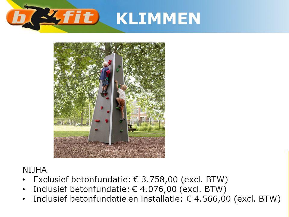 KLIMMEN NIJHA Exclusief betonfundatie: € 3.758,00 (excl. BTW)