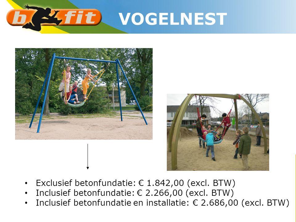 VOGELNEST Exclusief betonfundatie: € 1.842,00 (excl. BTW)
