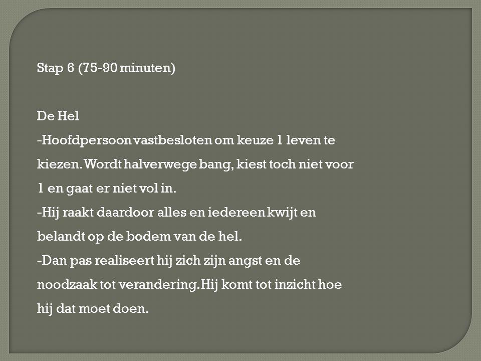 Stap 6 (75-90 minuten) De Hel.