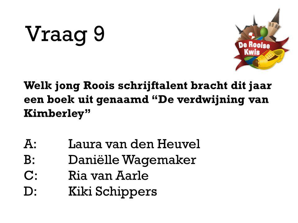 Vraag 9 A: Laura van den Heuvel B: Daniëlle Wagemaker C: Ria van Aarle