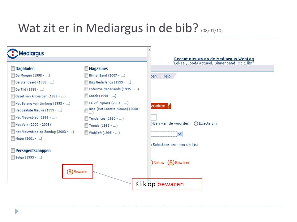 Wat zit er in Mediargus in de bib (08/01/10)