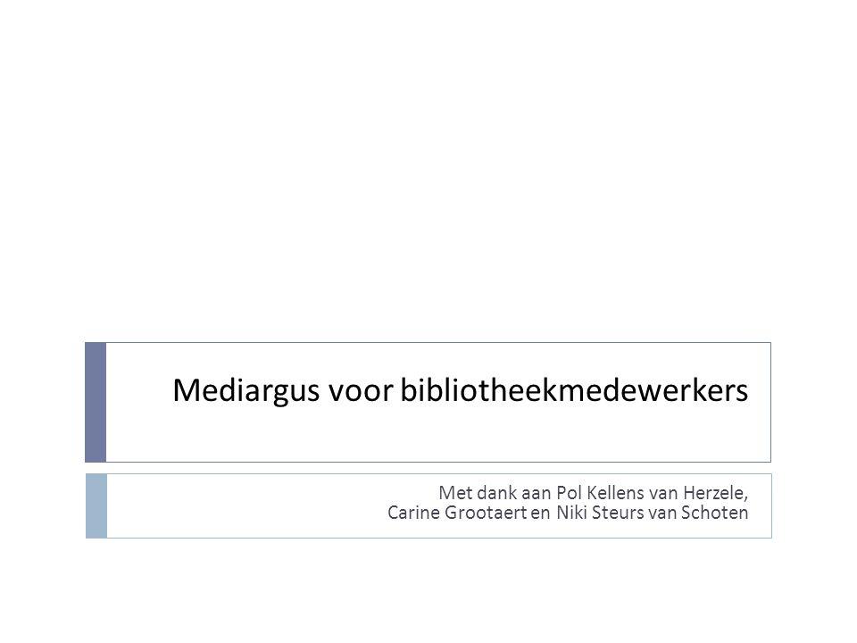 Mediargus voor bibliotheekmedewerkers