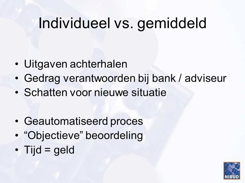 Individueel vs. gemiddeld