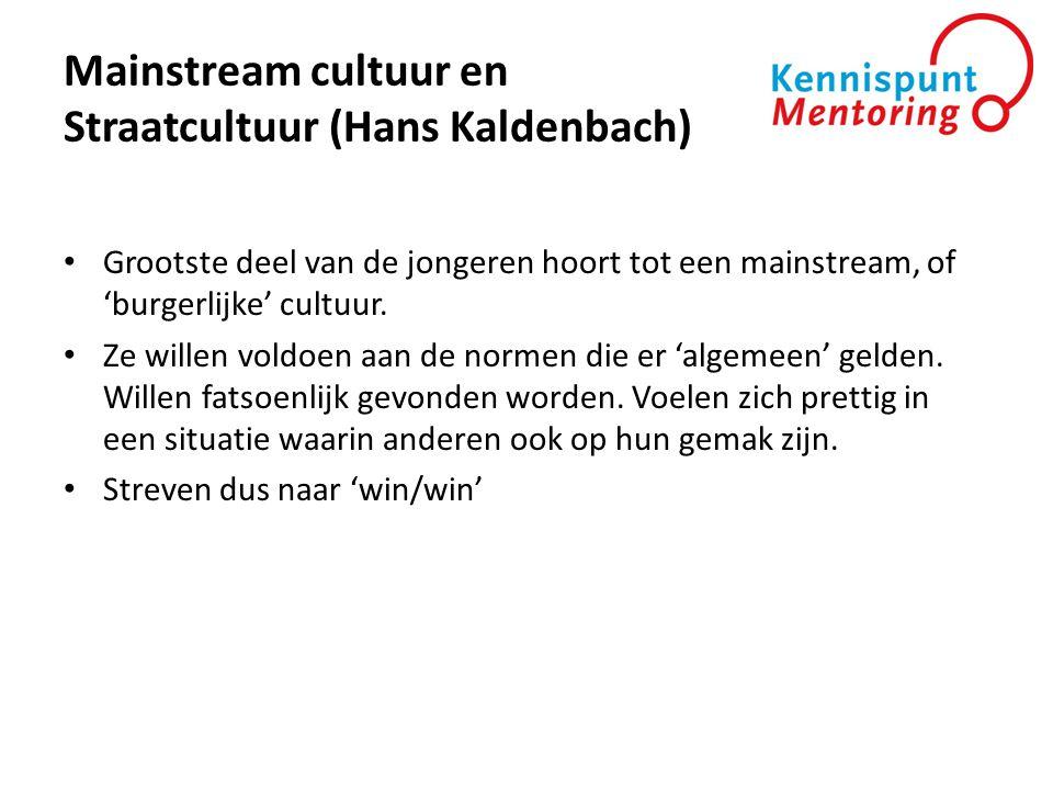 Mainstream cultuur en Straatcultuur (Hans Kaldenbach)