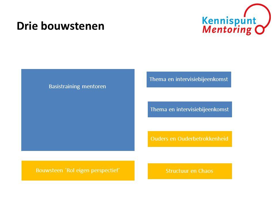 Drie bouwstenen Thema en intervisiebijeenkomst Basistraining mentoren