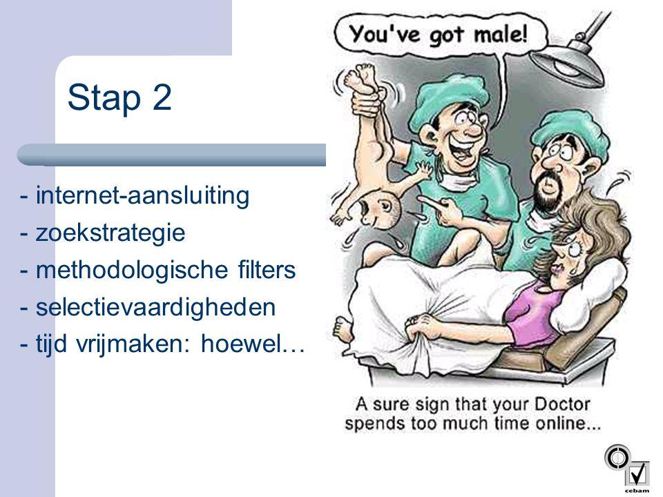 Stap 2 - internet-aansluiting - zoekstrategie