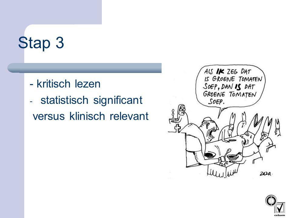 Stap 3 - kritisch lezen statistisch significant