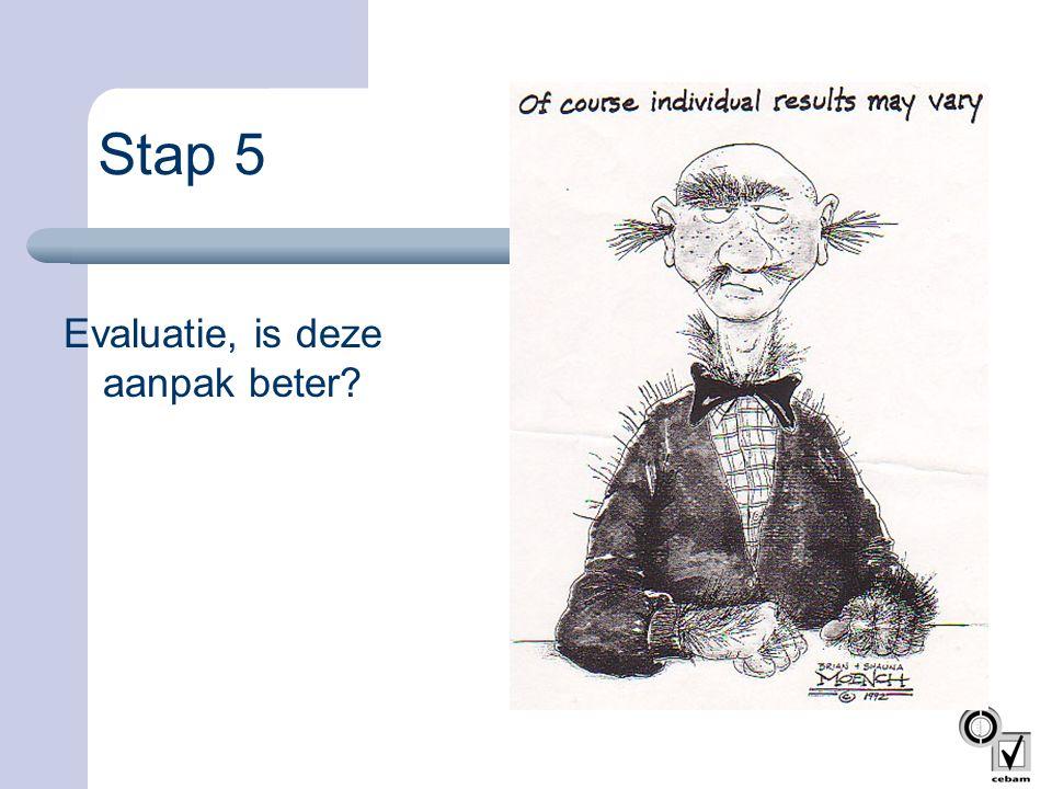 Stap 5 Evaluatie, is deze aanpak beter